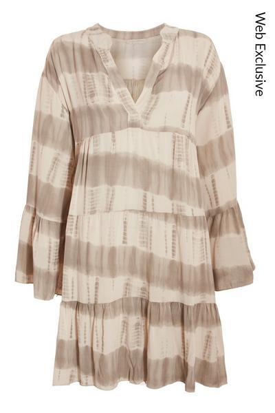 Stone Tie Dye Smock Dress
